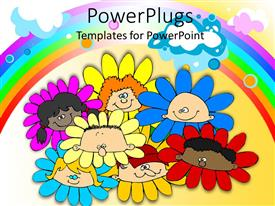 PowerPlugs: PowerPoint template with a number of kids in the form of flowers