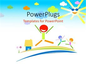 PowerPlugs: PowerPoint template with a number of kids playing and being happy