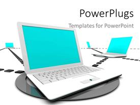 PowerPlugs: PowerPoint template with a number of laptops connected to each other
