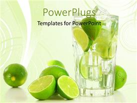 PowerPlugs: PowerPoint template with a number of lemons with  glass of lemonade