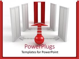 PowerPlugs: PowerPoint template with a number of lifts with only one active