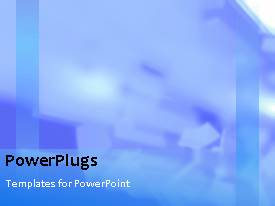 PowerPoint template displaying a number of lights in the background