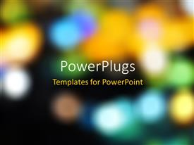 PowerPlugs: PowerPoint template with a number of lights in the background