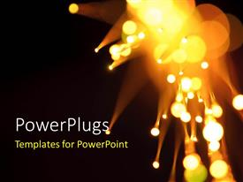 PowerPlugs: PowerPoint template with a number of lights in the background with place for text