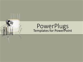 PowerPoint template displaying a number of lights with grayish background