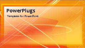 PowerPoint template displaying a number of lines in the background - widescreen format