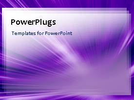 PowerPoint template displaying a number of lines converging at a point with purple background