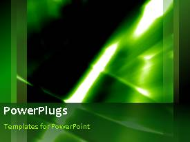 PowerPlugs: PowerPoint template with a number of lines in the greenish background with place for text