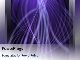 PowerPlugs: PowerPoint template with a number of lines with purple background and bullet points