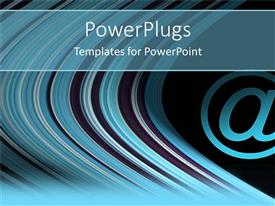 PowerPoint template displaying a number of lines with the sign @