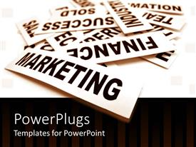 PowerPlugs: PowerPoint template with a number of marketing signs with white background