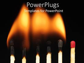 PowerPlugs: PowerPoint template with a number of match sticks being burnt