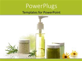 PowerPlugs: PowerPoint template with a number of medicines with white background