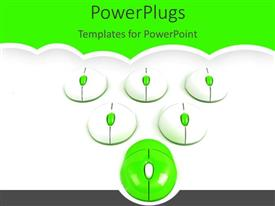 PowerPlugs: PowerPoint template with a number of mouse together with green background