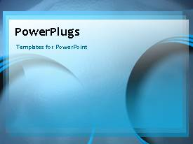 PowerPlugs: PowerPoint template with a number of moving circles in the background with place for text