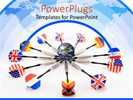 PowerPlugs: PowerPoint template with a number of all the nations in form of arrows