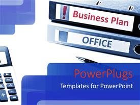 PowerPlugs: PowerPoint template with a number of office files with a calculator