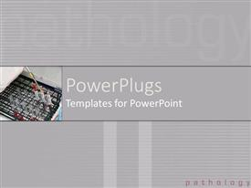 PowerPlugs: PowerPoint template with a number of paint brushes with grayish background