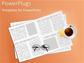 PowerPlugs: PowerPoint template with a number of papers with glasses on top