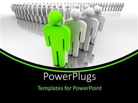 PowerPlugs: PowerPoint template with a number of people in the background with place for text