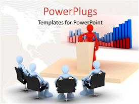 PowerPlugs: PowerPoint template with a number of people being addressed by one