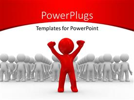 PowerPlugs: PowerPoint template with a number of people being lead by one