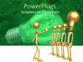 PowerPlugs: PowerPoint template with a number of people being lead by a person