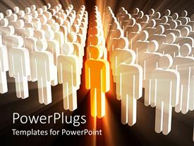 PowerPlugs: PowerPoint template with a number of people with black background