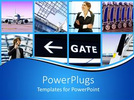 PowerPlugs: PowerPoint template with a number of people with a bluish background