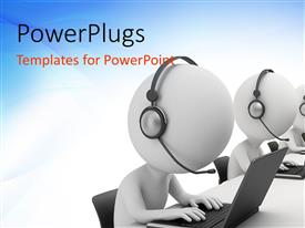 PowerPlugs: PowerPoint template with a number of people busy on their work machines