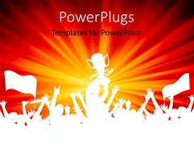 PowerPlugs: PowerPoint template with a number of people celebrating a win