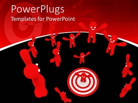 PowerPlugs: PowerPoint template with a number of people with a circle in the middle