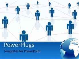 PowerPlugs: PowerPoint template with a number of people connected to each other