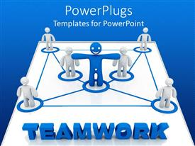 PowerPlugs: PowerPoint template with a number of people connected to one in the center