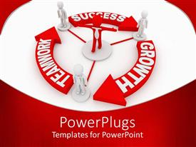 PowerPlugs: PowerPoint template with a number of people connected to one person in the center