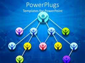 PowerPlugs: PowerPoint template with a number of people connected together