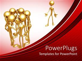 PowerPlugs: PowerPoint template with a number of people discussing something