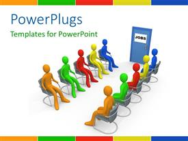 PowerPlugs: PowerPoint template with a number of people during an interview