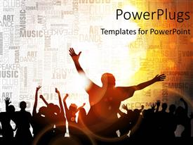 PowerPlugs: PowerPoint template with a number of people enjoying together