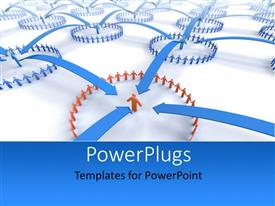 PowerPlugs: PowerPoint template with a number of people in form of circles with white background