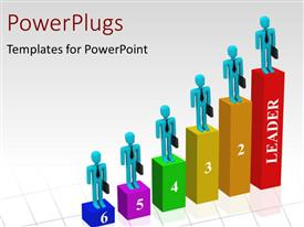 PowerPlugs: PowerPoint template with a number of people on the growth table