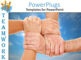 PowerPlugs: PowerPoint template with a number of people holding each other's wrists