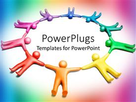 PowerPlugs: PowerPoint template with a number of people holding each other's hands
