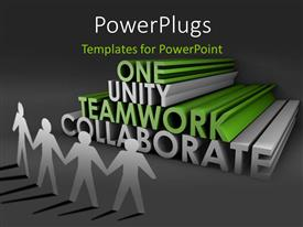 PowerPlugs: PowerPoint template with a number of people holding their hands