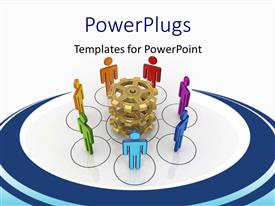 PowerPlugs: PowerPoint template with a number of people inside circles