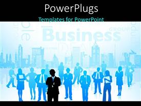 PowerPlugs: PowerPoint template with a number of people with a leader