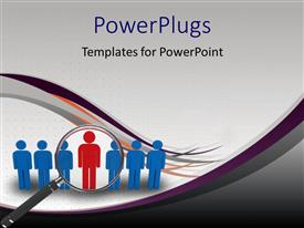 PowerPlugs: PowerPoint template with a number of people with a magnifying glass