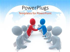 PowerPlugs: PowerPoint template with a number of people in a meeting