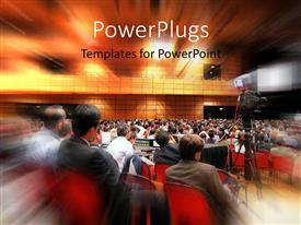 PowerPlugs: PowerPoint template with a number of people in a meeting with place for text