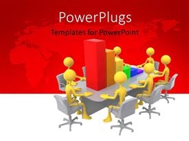 PowerPlugs: PowerPoint template with a number of people in a meeting room with a table